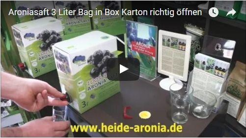 Aroniasaft 3 Liter Bag in Box