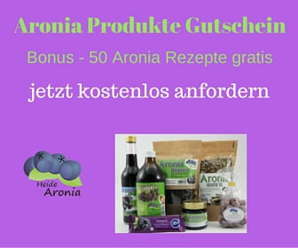 Aronia Produkte Gutschein