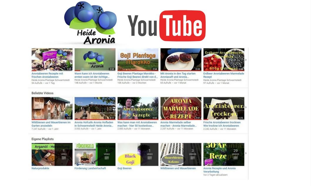 Heide Aronia Youtube Kanal