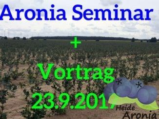 Aronia Seminar und Aronia Vortrag