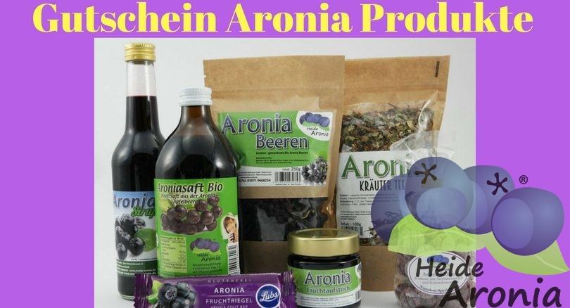 Gutschein Aronia Produkte